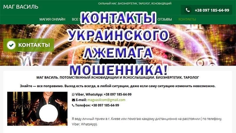 Маг Василь (mag-vasil.com) – шарлатан