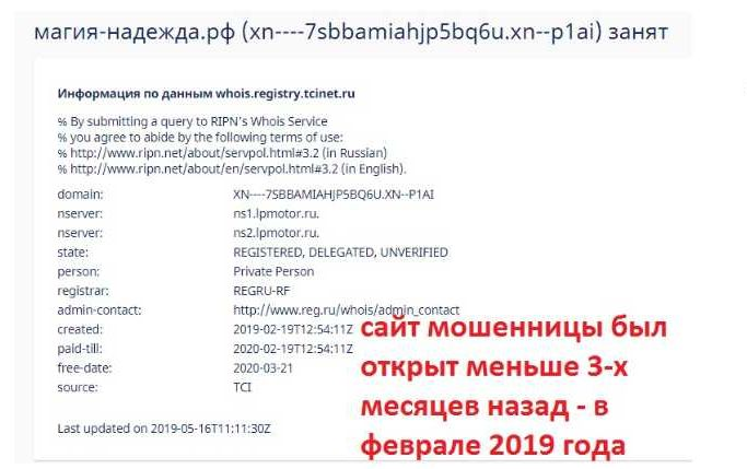 Гадалка Надежда Федоровна (магия-надежда.рф) – мошенница